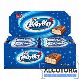 Упаковка батончиків Мілкі Вей з суфле, Milky Way с суфле 56 шт x 21,5 г.