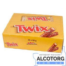Упаковка батончиків Твікс в молочному шоколаді, Twix 32 шт x 50 г.