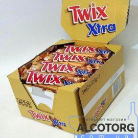 Упаковка батончиків Твікс Екстра в молочному шоколаді, Twix Extra 30 шт x 75 г.
