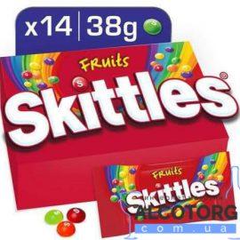 Упаковка драже Skittles Фрукти 38 г x 14 шт.