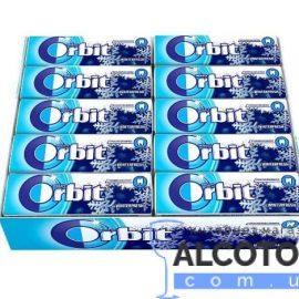 Упаковка жувальної гумки Орбіт Вінтерфреш з ментолом, Orbit Winterfresh 14 г x 30 шт.