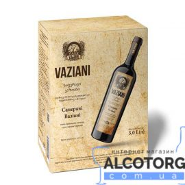Вино Сапераві Вазіані червоне сухе, Vaziani Saperavi 3 літри.