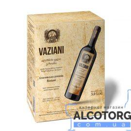 Вино Алазанська Долина Вазіані Червоне Напівсолодке, Vaziani 3 літри.