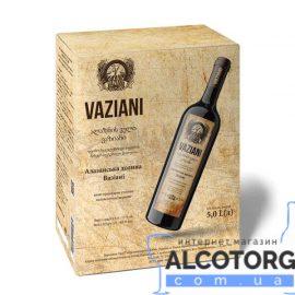 Вино Алазанська Долина Вазіані Червоне Напівсолодке, Vaziani 5 літрів.