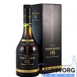 Бренді Торесс 15 років в коробці, Torres 15 years old gift box 0,7 л.
