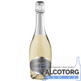 Вино ігристе Каналето Піно Гріджіо біле брют, Canaletto Pinot Grigio 0,75 л.