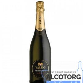 Вино ігристе Вальдо Просекко Екстра сухе Етікетта Нера біле, Valdo Prosecco DOC Extra dry Etichetta Nera 0,75 л.