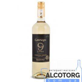 Вино Совиньон Блан Резерва 9 жизней Гато Негро белое сухое, Sauvignon Blanc Reserve 9 Lives Gato Negro 0,75 л.