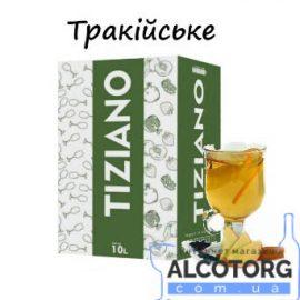 Вино Тракійське Тіціано біле напівсолодке, Tiziano 10 літрів.